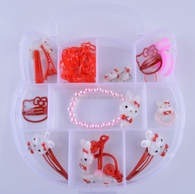 Cute rabbit design kids girls hair jewelry hair accessories sets