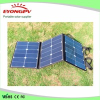 Dual 5v USB 18v DC outout foldable solar panel charging bag for laptop