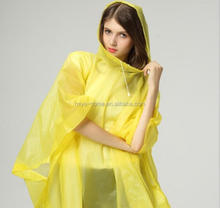 High quality EVA adult poncho/Disposable Emergency Raincoat/ Waterproof Raincoat
