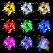 Hot sale 10million per month normal christmas light 100 LED Chasing String Christmas Lights