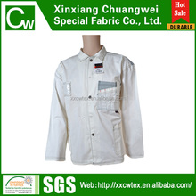 polyester cotton white jacket for workers