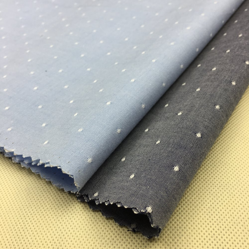 100% cotton dobby chambray yarn dyed shirting fabrics
