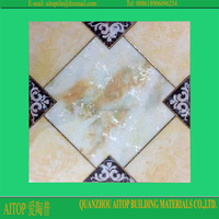 Gold plated ceramic floor tile, vitrified tile