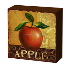 Decorative Vintage Apple Wood Table Decor