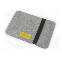 "J.M.SHOW Notebook Sleeve Bag PU Leather Case Wool Felt Sleeve Bag 10"" for for ipad air ipad 2 3 4/ New Macbook 12inch"