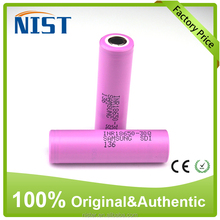 Hot selling 100% Authentic18650 batery Samsung INR18650 30Q battery 3000mAH for e-cig