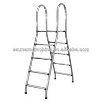 High quality swimming pool equipment aluminium step double ladder