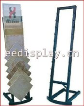 Single Side Beauty Design & Powder Coated Metal Tile Display Rack/sand/holder To Hold Laminate