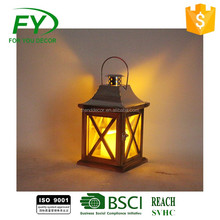 wedding decorative table top wooden candle lantern