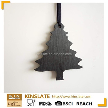 Christmas tree special slate stone craft hanging tags for decoration