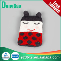 Cute Cartoon christmas doll plush knitted water bottle cover