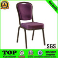 Hot sell metal frame stackable chair/ hotel banquet chair with low price