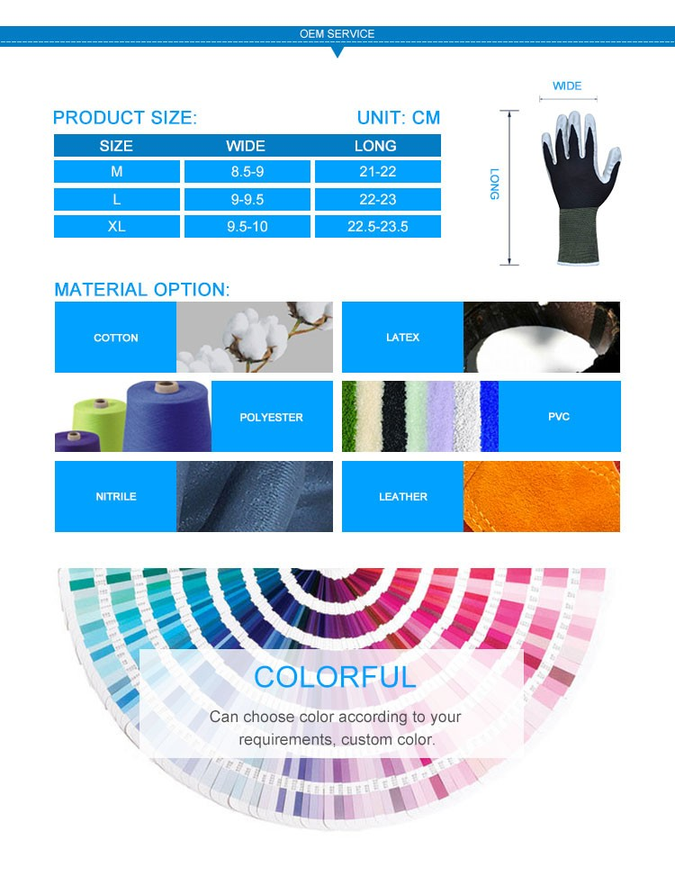 Professional Non Disposable Industrial Latex Coating Safe Hands Gloves
