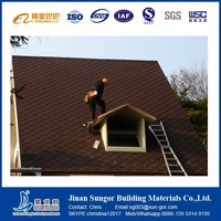 Single/Double Surface Sand Asphalt Roof Shingle Decorative Tile
