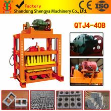 QTJ 4-40B Cement/concrete Block Making Machinery Suitable For Home
