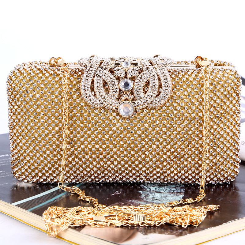 Wholesale clutch bag China crown metal frame crystal evening bags