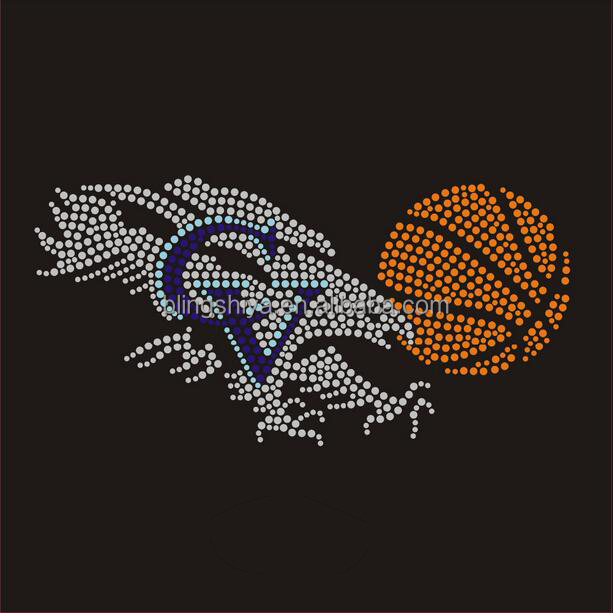 EAgles falcons basketball Rhinestone Transfer Iron On Applique Bling Crystal