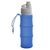 500ml multifunctional travel sport food grade silicone collapsible water bottle