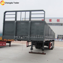 700mm side curtain semi trailer flatbed trailer frame with side wall