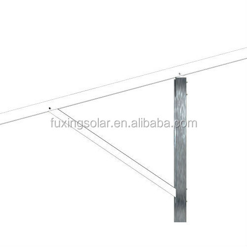 AL-GT-II Terrace II Ground Solar Panel Bracket System for large commercial and utility solution