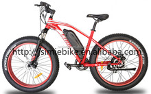 "Chinese 26"" full suspension fat tire sport electric mountain bike"