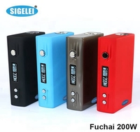 Huge vapor Sigelei Fuchai 200w tc box mod ecigs Fuchai 200 watt authentic from Sigelei