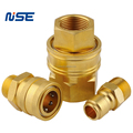 Straight through no valve brass hydraulic quick coupling NITTO TSP coupler