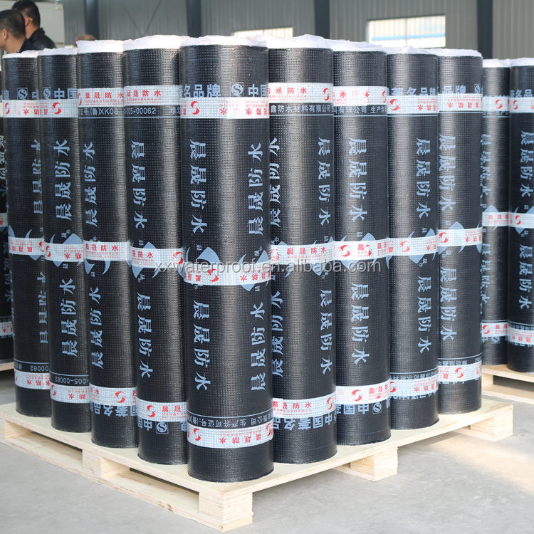 4mm -25 SBS modified bitumen waterproofing rolls for roofing material