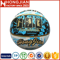 HB029 photo printed customized logo outdoor rubber basketball court