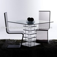 Acrylic/lucite dining room furniture/lucite table and chair