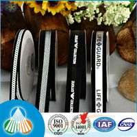 black and white stripe grosgrain spool printed ribbon