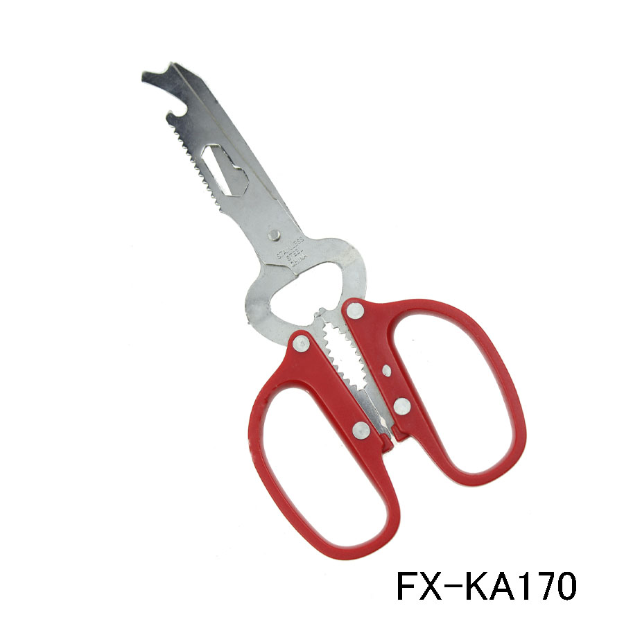 KA170 Multifuction kitchen scissor with bottle opener and nut cracker