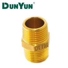 High Quality OEM 1/2-2 inch Nipple Coupling Brass Screw Fitting for plumbing