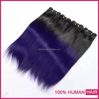 Wholesale pure indian remy virgin human hair weft omber color indian hair wholesale