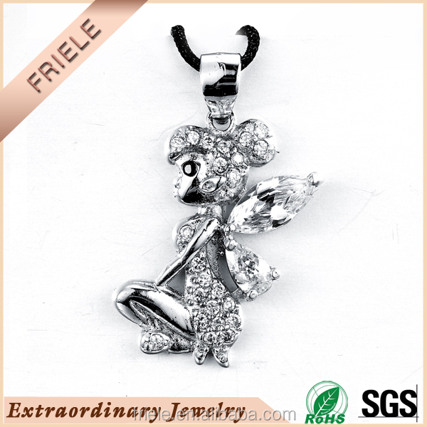 wholesale fashion jewelry pendant 925 sterling silver angel girl pendant