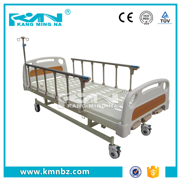 3 Cranks Manual Hospital Bed with alloy side rail
