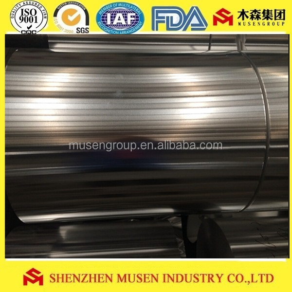 8011 aluminum household foil jumbo roll for rewinding to kitchen use 9mic to 18mic