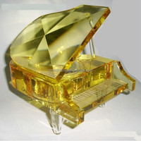 yellow crystal piano for birthday gift MH-G009
