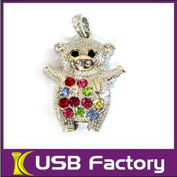 Popular jewelry usb apple for promotional products 8GB,16GB
