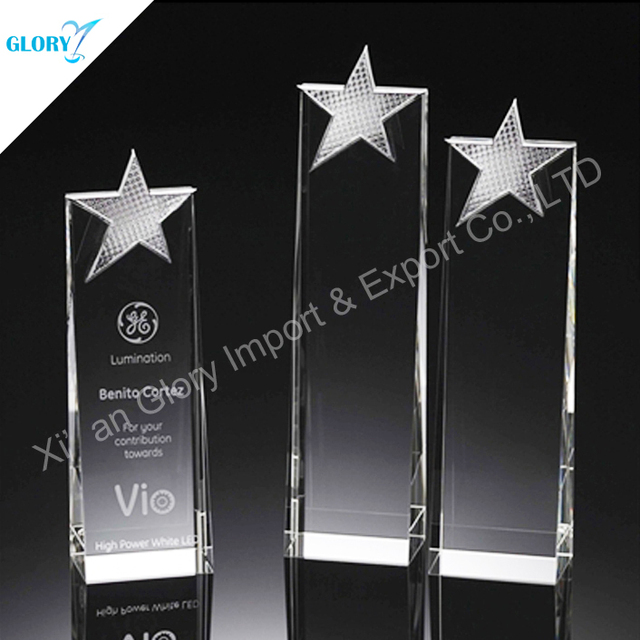Acrylic awards crystal trophy and plaques