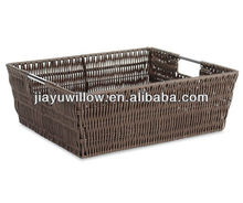 Wholesale handicraft rattan soft bread baskets with handmade for Christmas