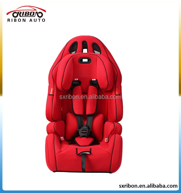 Sports car child safety seat for 9-36kgs,1-12 year baby safety seat