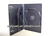 dvd case 14mm 3discs black 3disc dvd case