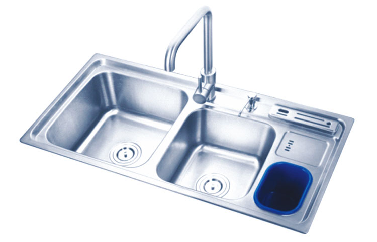 Chinese Factory Direct Stainless Steel 3 Bowls Kitchen Sink Pakistan