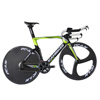 2017 front tri-spokes rear disc wheel full carbon time trial bike, complete carbon tt bike