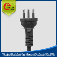 3 pins A/C POWER PLUG for EUROPE standard power plug EUROP plug VDE cord