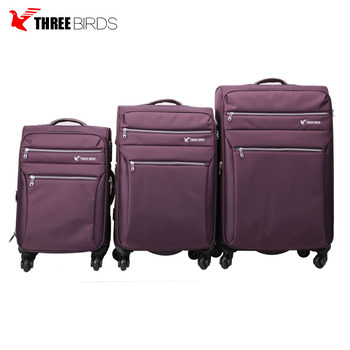 custom color travelling Polyester soft Luggage Bags and travel car luggage with 20 24 28 inch