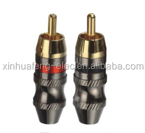 Audio RCA Male Connector Gold Plated Plug