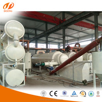 Manufacturing suppliers fully continuous tyre recycling machine to diesel waste tyre to oil recycling pyrolysis plant
