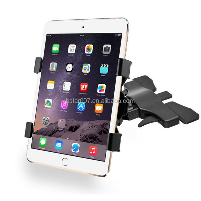 New 360 Degree Adjustable Universal Car CD Slot 7-10 Inches Tablet Mount Holder For Ipad Holder For Samsung Tablet